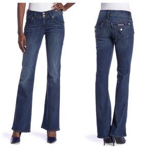 Hudson Midrise Signature Bootcut Flap Pocket Jeans